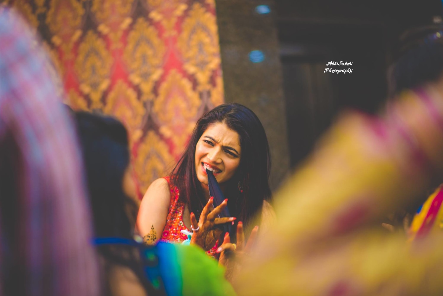 Bride enjoying to her fullest by AbhiSakshi Photography Wedding-photography | Weddings Photos & Ideas