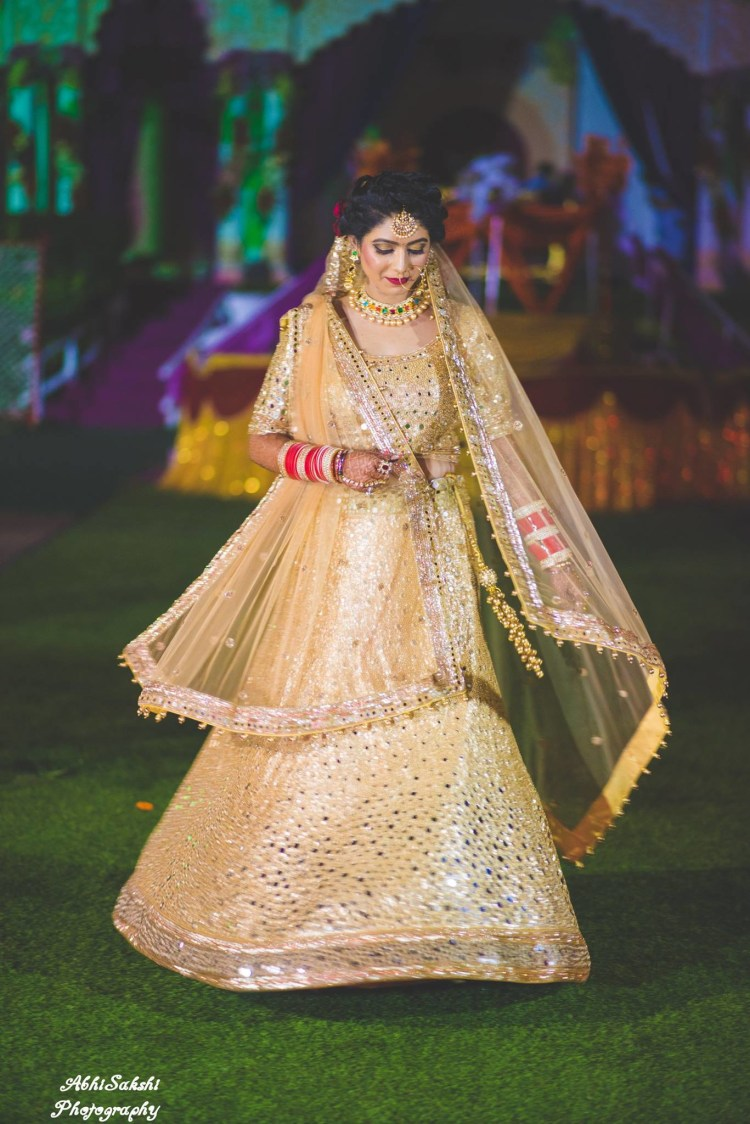Twirling Shot of Beautiful Bride by AbhiSakshi Photography Wedding-photography | Weddings Photos & Ideas