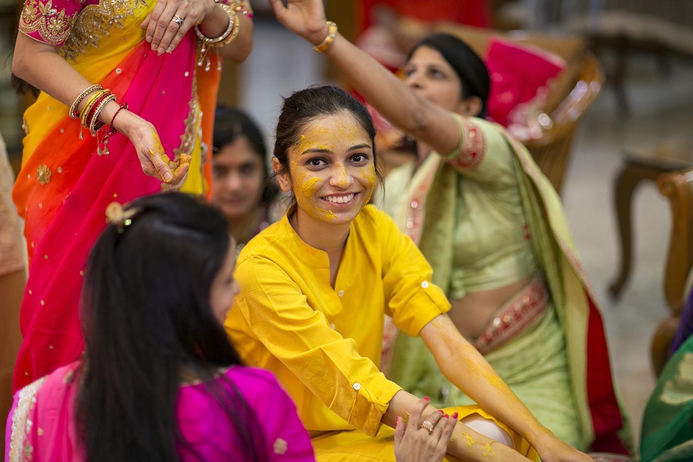 Happy Bride-To-Be On Haldi Day by Niranjan Patwardhan Wedding-photography   Weddings Photos & Ideas