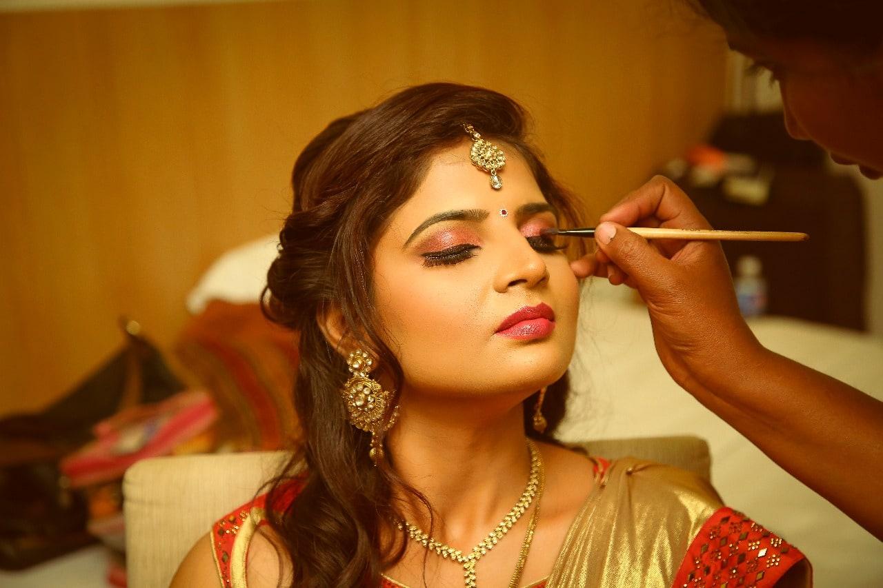 Priming with glint by Hemavathi Bridal-makeup | Weddings Photos & Ideas