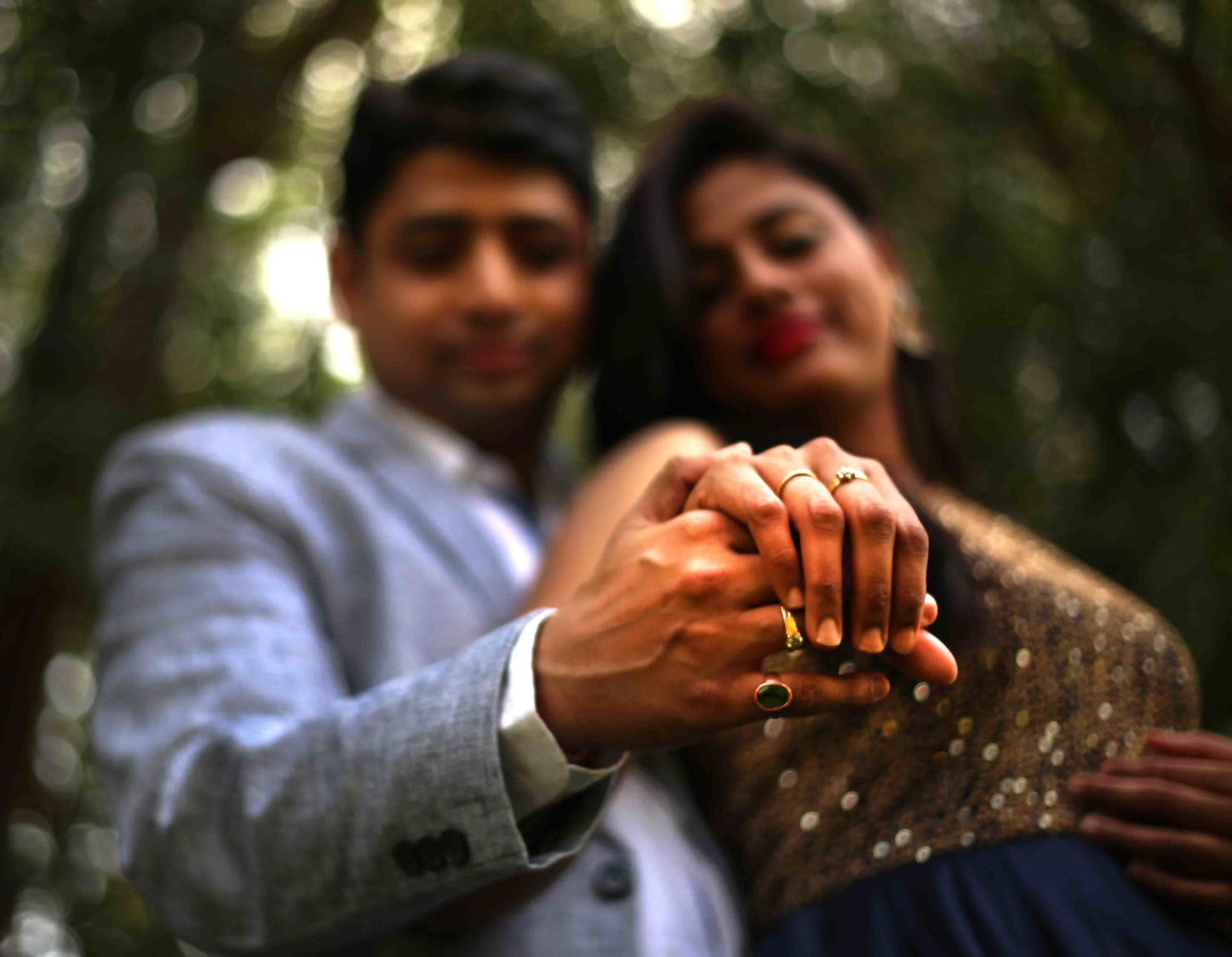 Flaunting the love symbol! by Rushil Jadhav Wedding-photography | Weddings Photos & Ideas