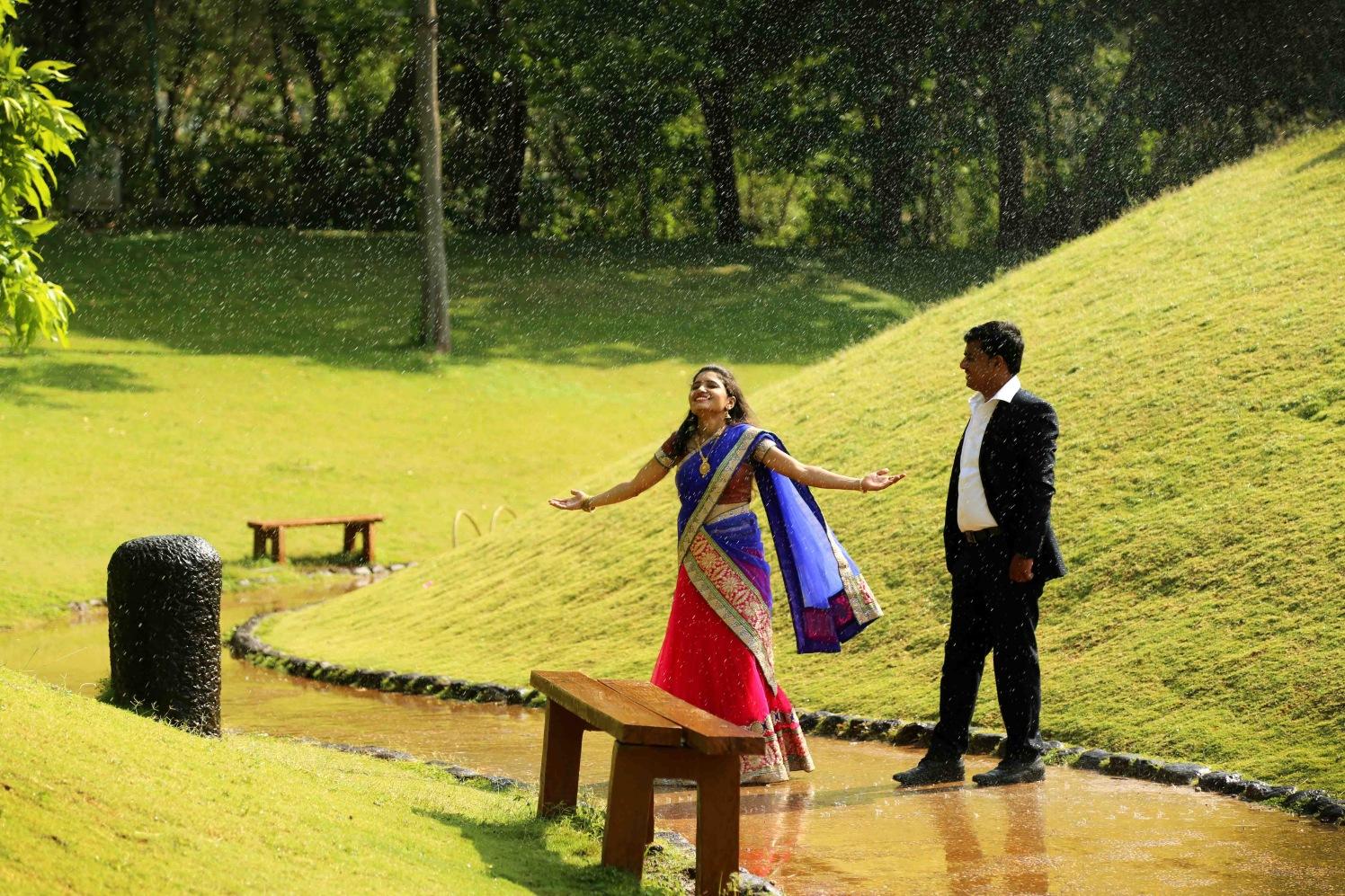 Enjoying the love drizzle! by Rushil Jadhav Wedding-photography | Weddings Photos & Ideas