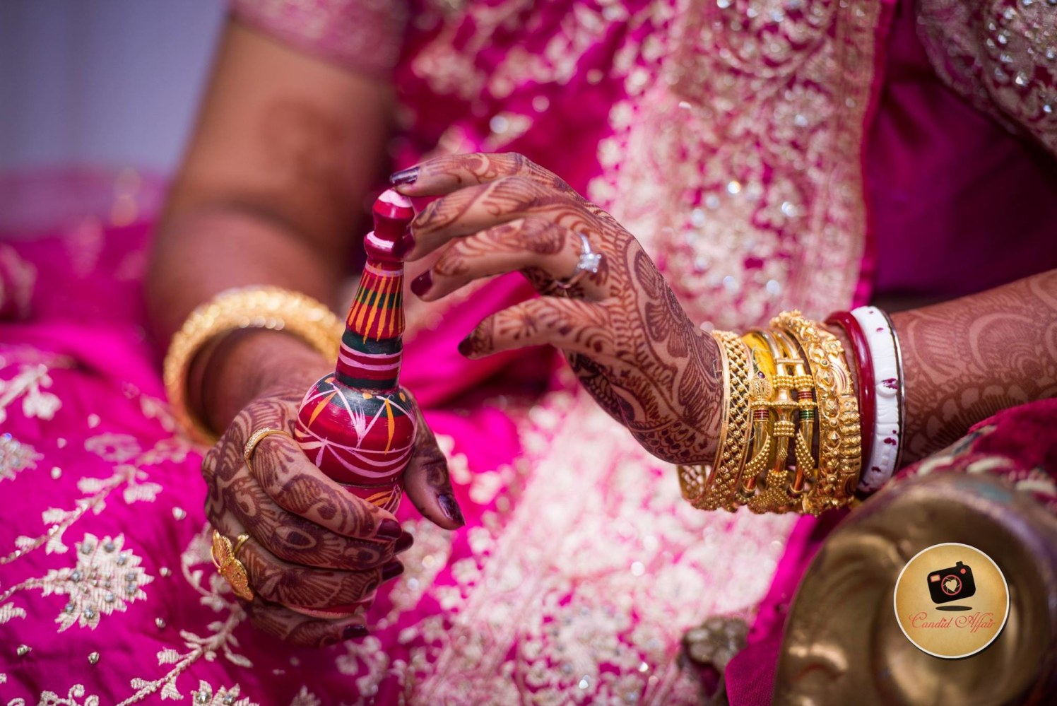 Gold Bangles Of Bride by Candid Affair Wedding-photography Bridal-jewellery-and-accessories | Weddings Photos & Ideas