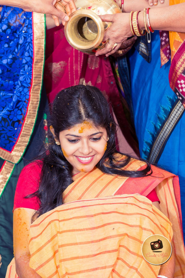 Haldi Shot Of Bride To Be by Candid Affair Wedding-photography | Weddings Photos & Ideas