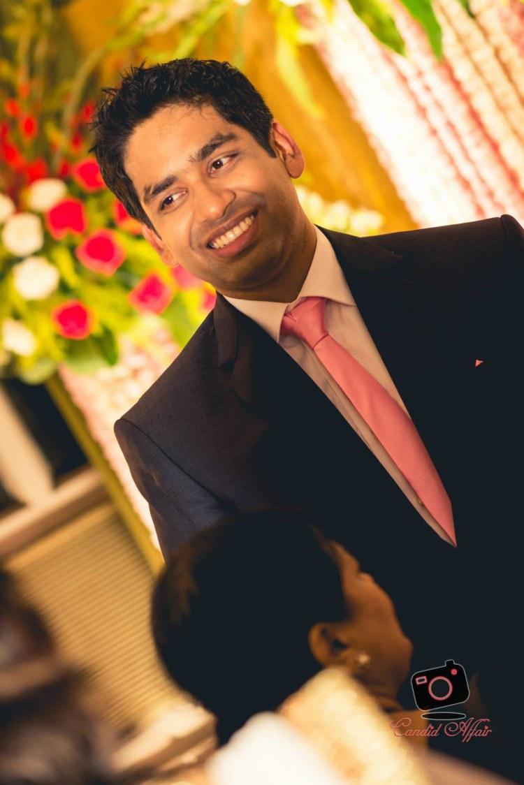 Groom's Shot On Engagement by Candid Affair Wedding-photography | Weddings Photos & Ideas