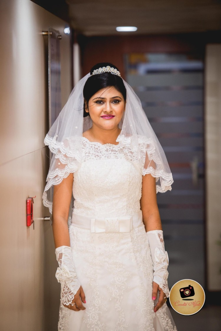 Bride In White Lacy Gown by Candid Affair Wedding-photography | Weddings Photos & Ideas
