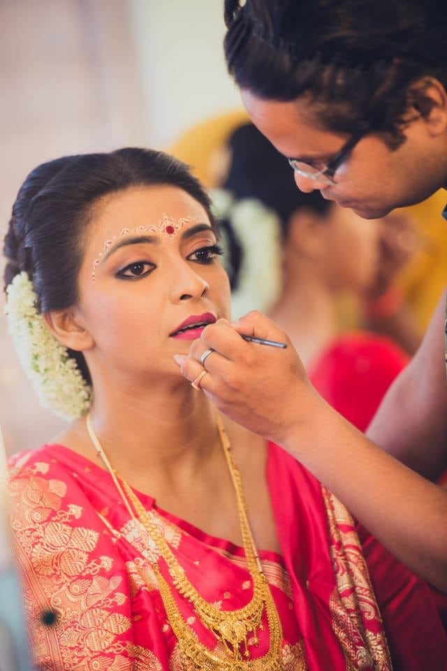 Bride's Getting Ready Shot by Candid Affair Wedding-photography Bridal-makeup | Weddings Photos & Ideas
