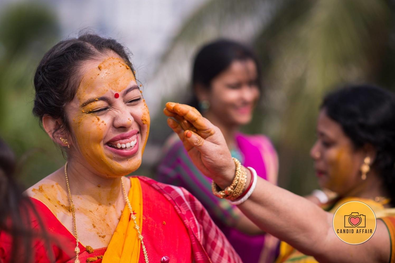 Haldi ceremony Of The Bride by Candid Affair Wedding-photography | Weddings Photos & Ideas
