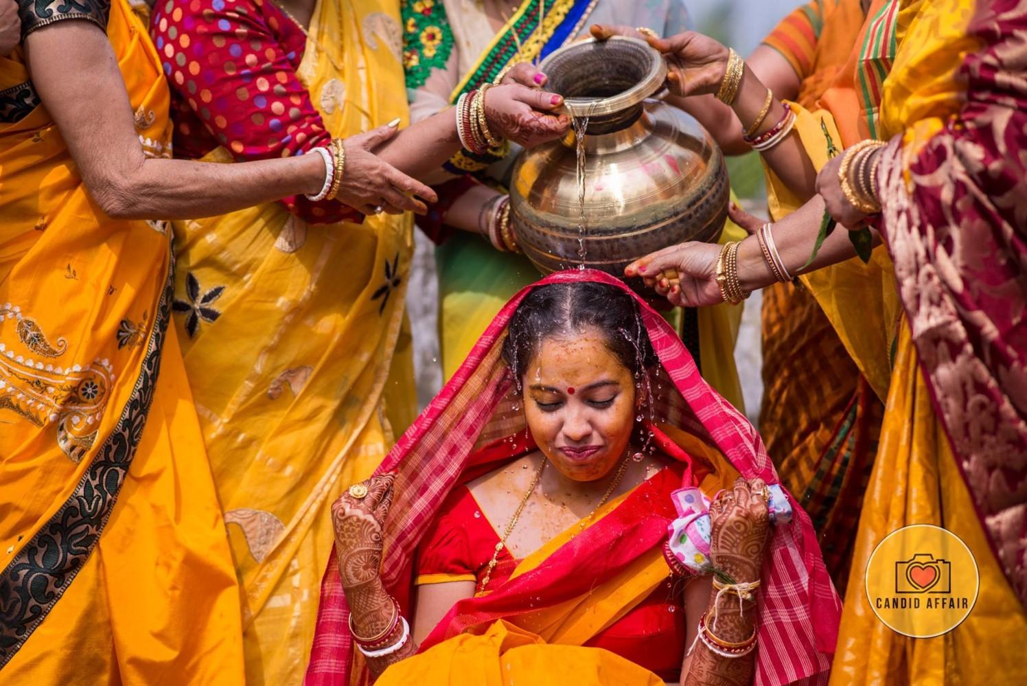 Traditions On Haldi Day by Candid Affair Wedding-photography | Weddings Photos & Ideas