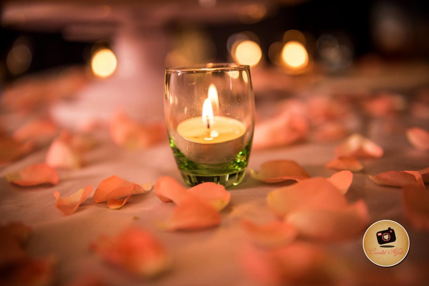 Simple Candle Decor For The Wedding Day by Candid Affair Wedding-decor | Weddings Photos & Ideas