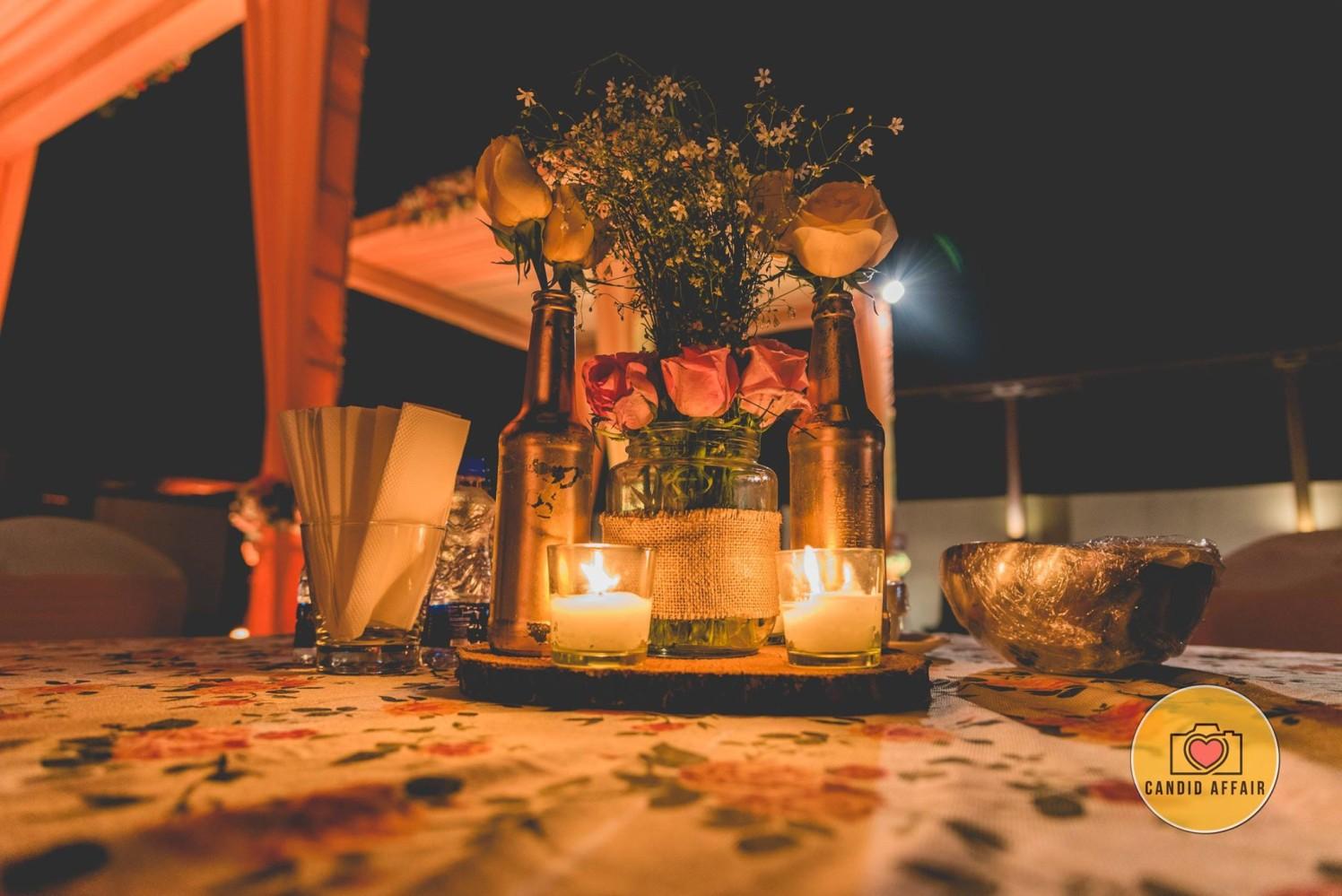 Candle And Roses Wedding Decor by Candid Affair Wedding-decor | Weddings Photos & Ideas