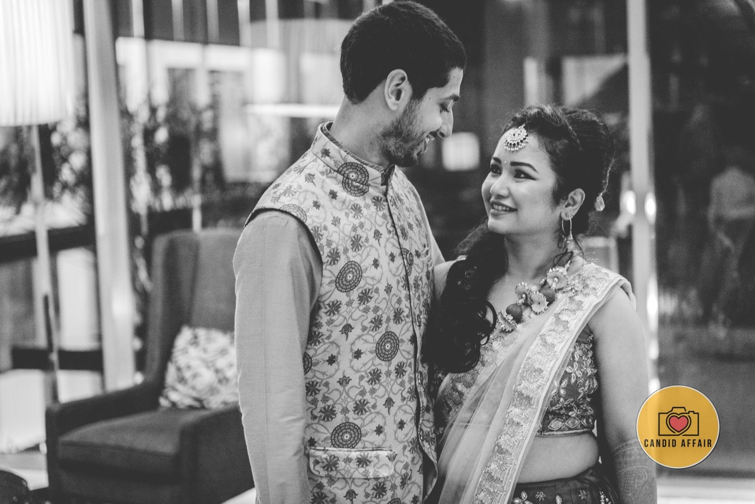 Black And White Shot Of Bride And Groom by Candid Affair Wedding-photography | Weddings Photos & Ideas