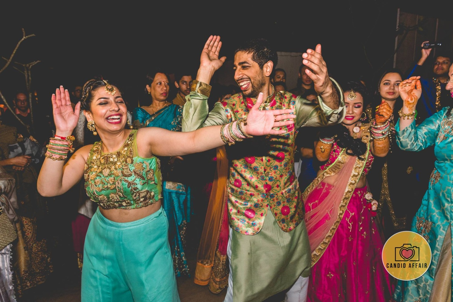 Celebration On Sangeet by Candid Affair Wedding-photography | Weddings Photos & Ideas