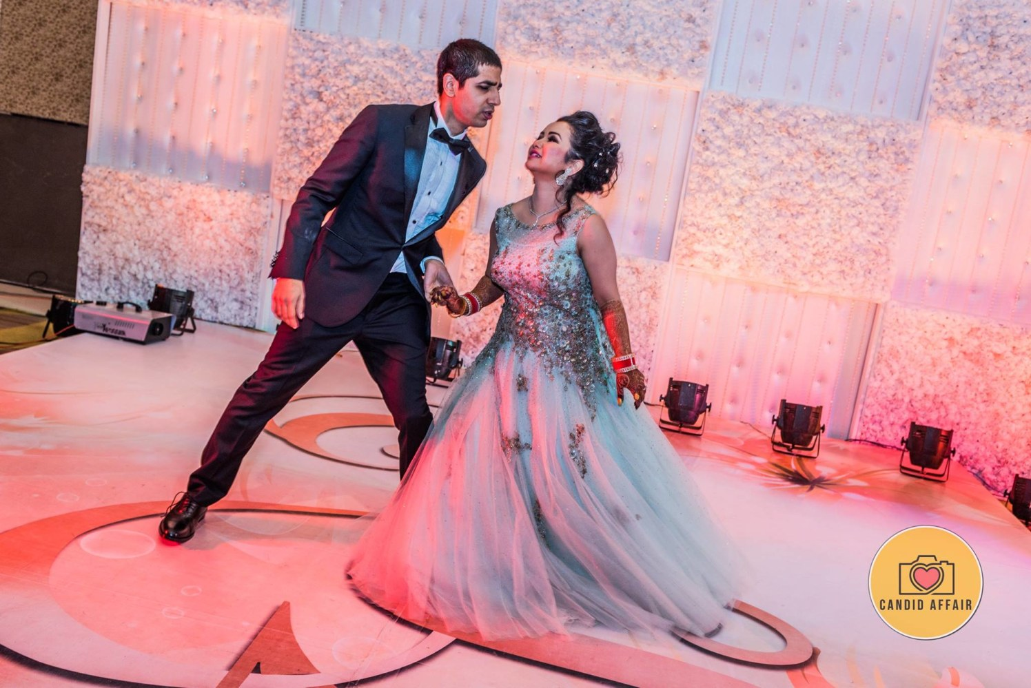 Dancing Shot Of Bride And Groom On Receptions by Candid Affair Wedding-photography Wedding-dresses | Weddings Photos & Ideas