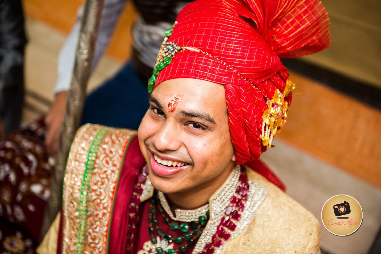 Groom Wearing Red Turban by Candid Affair Wedding-photography Groom-wear-and-accessories | Weddings Photos & Ideas