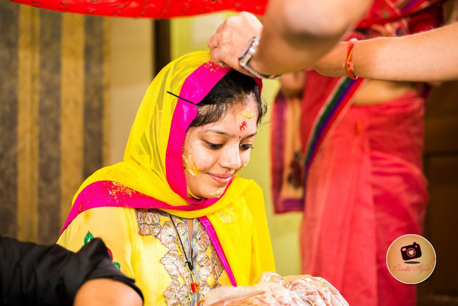 Bridal Haldi Shot by Candid Affair Wedding-photography | Weddings Photos & Ideas