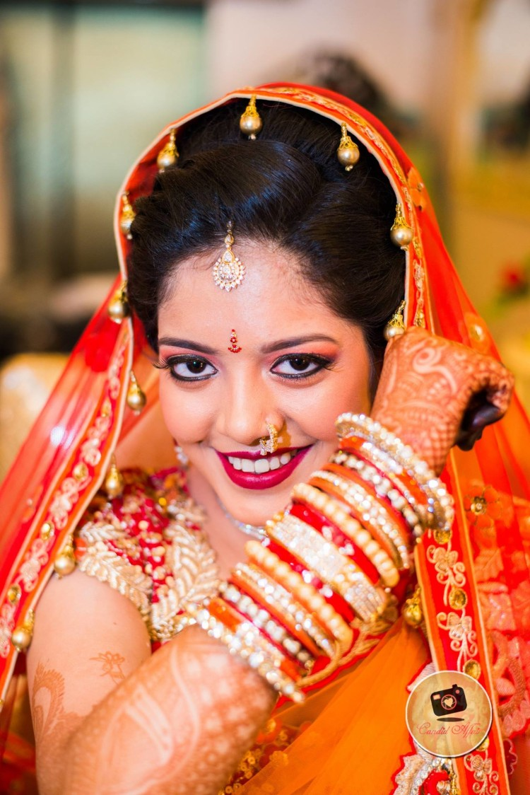 Bold Makeup Look For The Bride by Candid Affair Wedding-photography Bridal-jewellery-and-accessories Bridal-makeup | Weddings Photos & Ideas