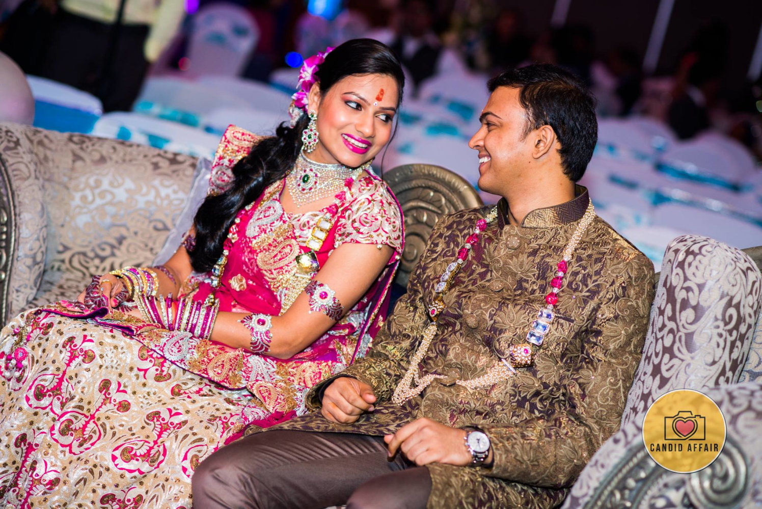 Engaging Talks Between Beautiful Bride And Groom by Candid Affair Wedding-photography | Weddings Photos & Ideas