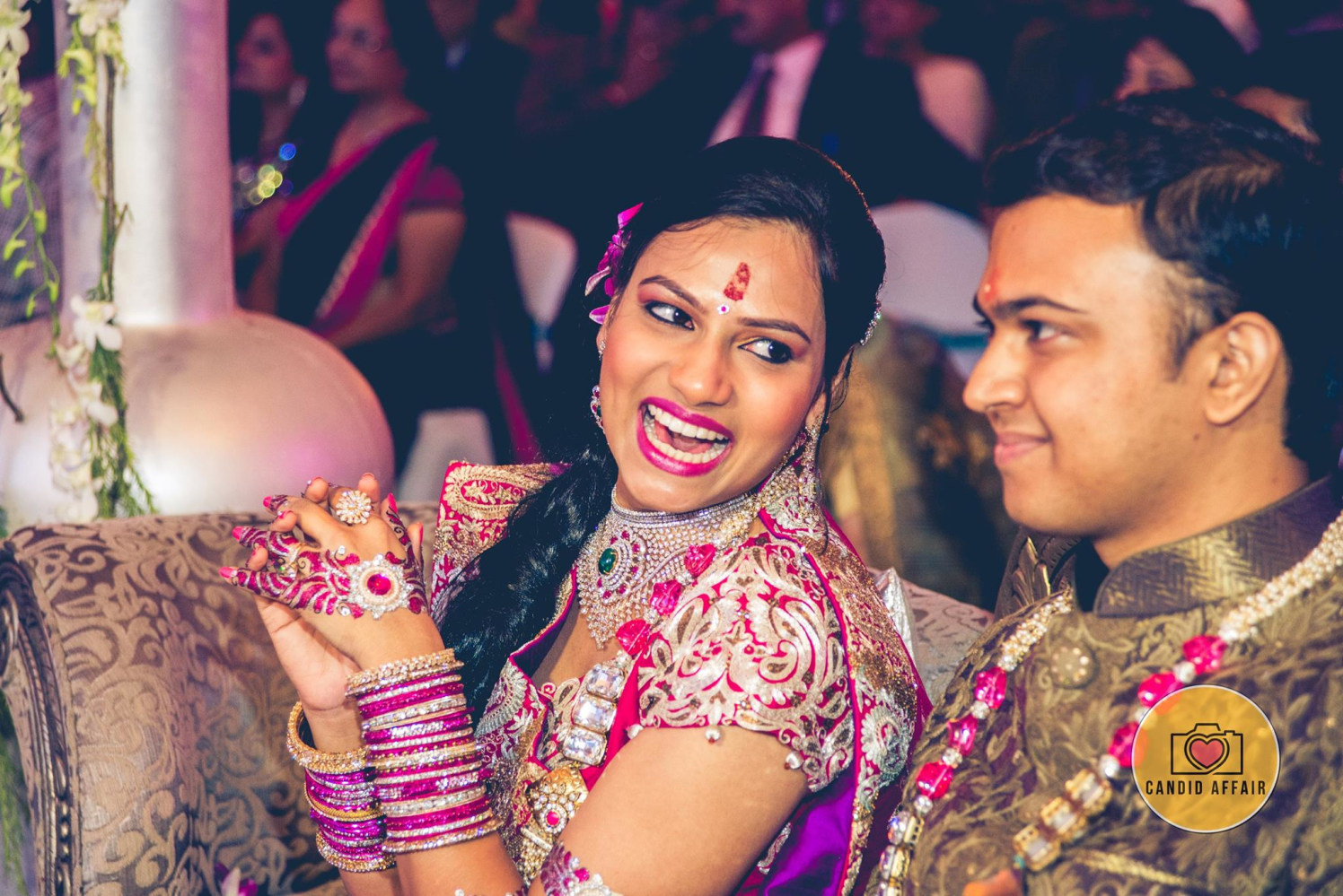 Bride And Groom Enjoying Their Moment by Candid Affair Wedding-photography | Weddings Photos & Ideas