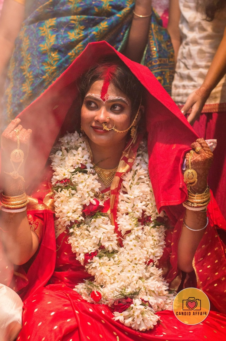 Candid Bride's Shot On Wedding Day by Candid Affair Wedding-photography | Weddings Photos & Ideas