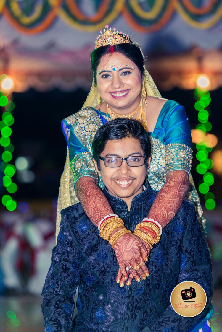 Wedding Day Portrait Of The Couple by Candid Affair Wedding-photography Bridal-jewellery-and-accessories | Weddings Photos & Ideas