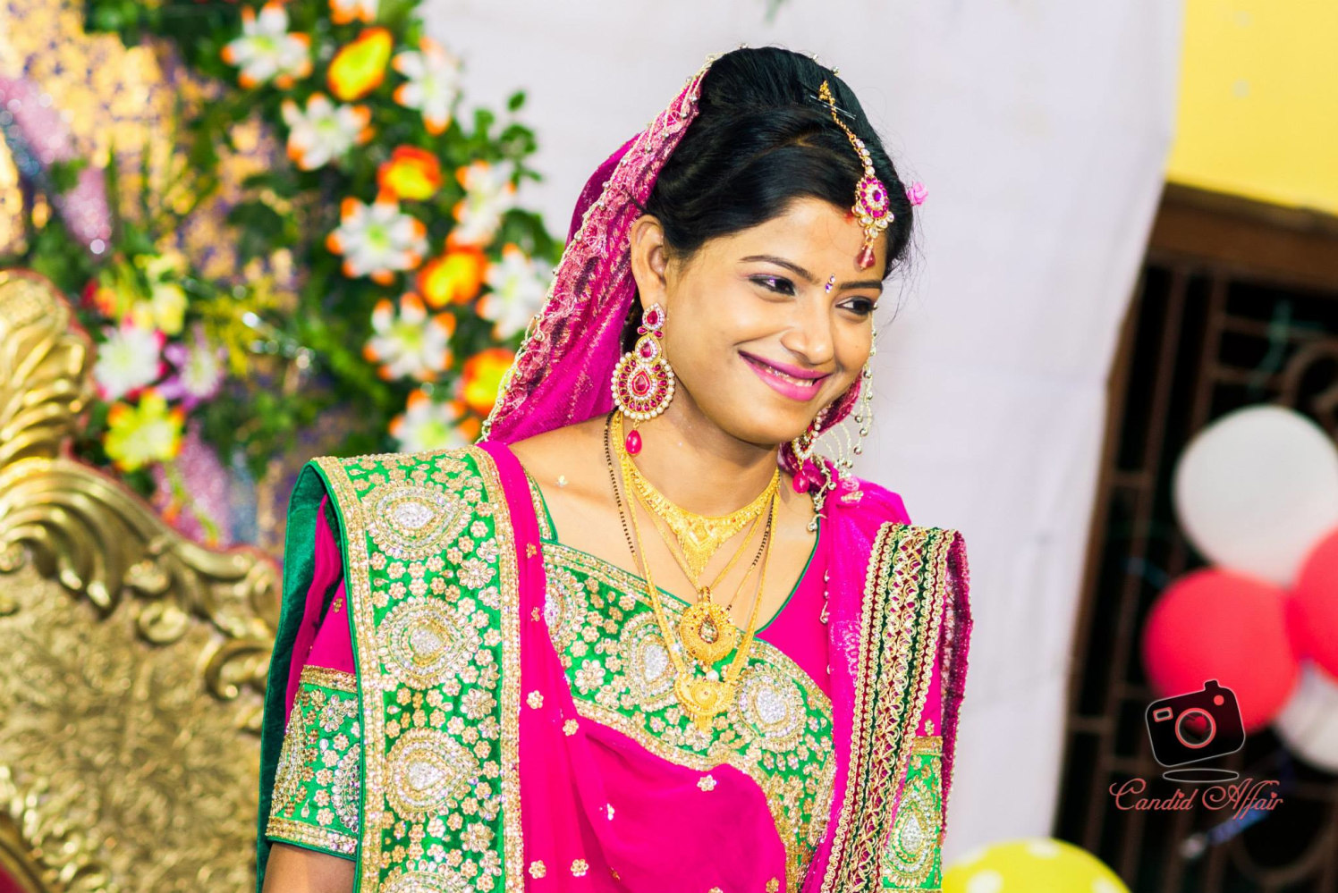 Indian Bride With Flawless Smile by Candid Affair Wedding-photography | Weddings Photos & Ideas