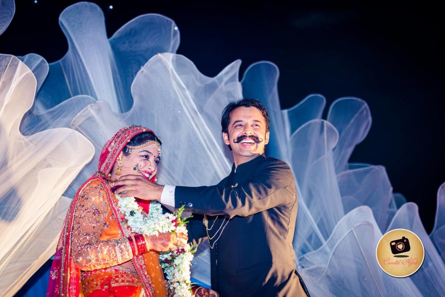 Varmala Shot On Wedding Day by Candid Affair Wedding-photography   Weddings Photos & Ideas