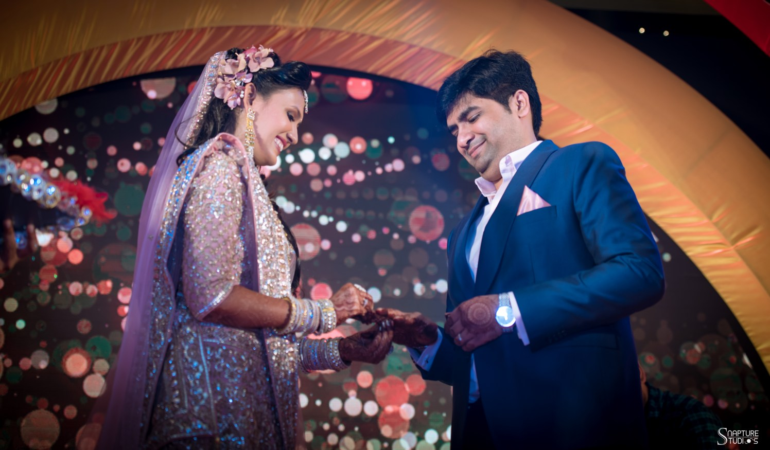 Bride And Groom Engagement Shot by Sahil Kumar Wedding-photography | Weddings Photos & Ideas