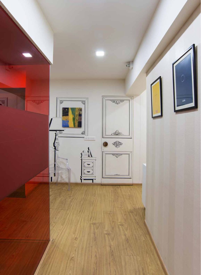 Contemporary office floor by Disha Bhavsar Contemporary   Interior Design Photos & Ideas