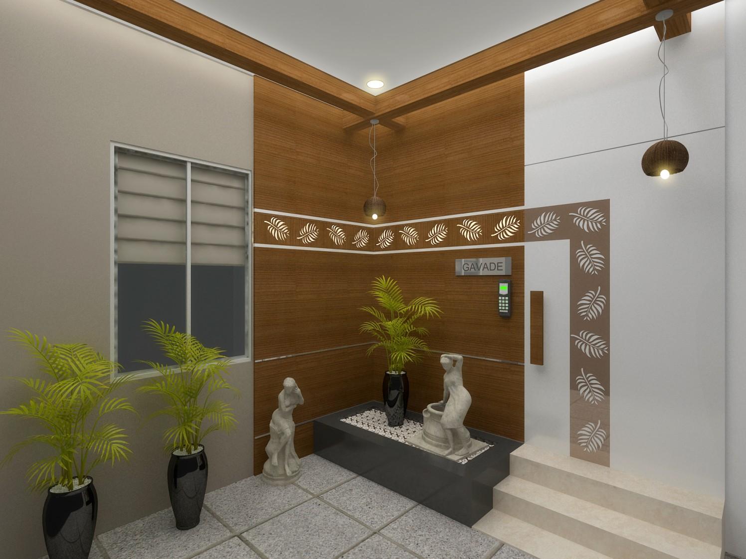 Contemporary Hallway by Ashwiinii saluunkhe Contemporary | Interior Design Photos & Ideas