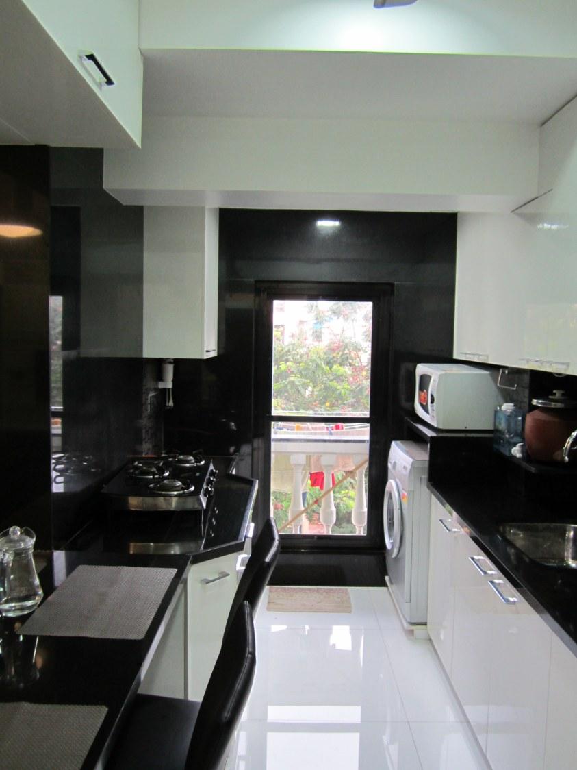Cotton Shade Wooden Cabinets In Modular Kitchen by Chetan Parmar Modular-kitchen Modern | Interior Design Photos & Ideas