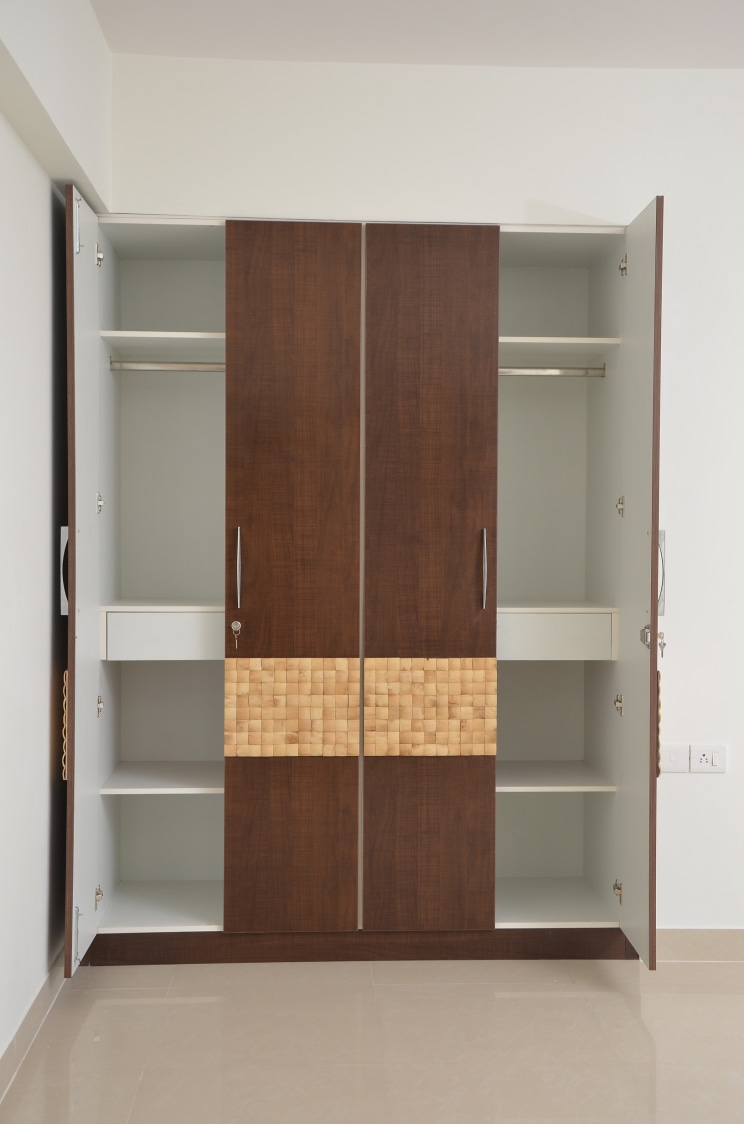 The Cocoa Brown Closet by Naushad Bedroom Modern | Interior Design Photos & Ideas