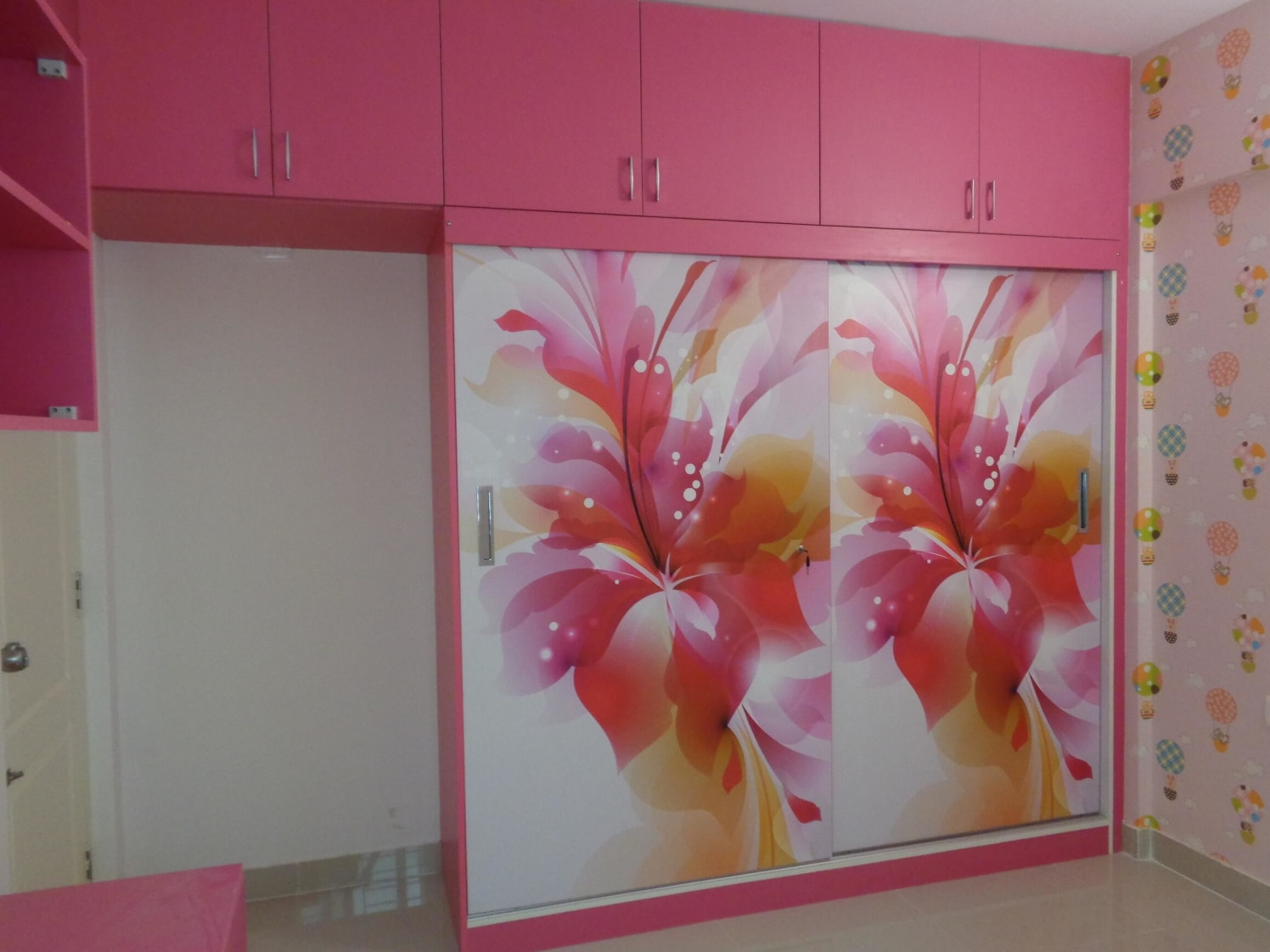 The Pink Florals by Naushad Bedroom Modern | Interior Design Photos & Ideas
