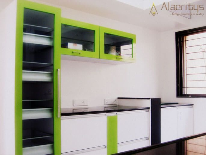Floating Cabinets by Trupti Ladda Modular-kitchen Modern | Interior Design Photos & Ideas