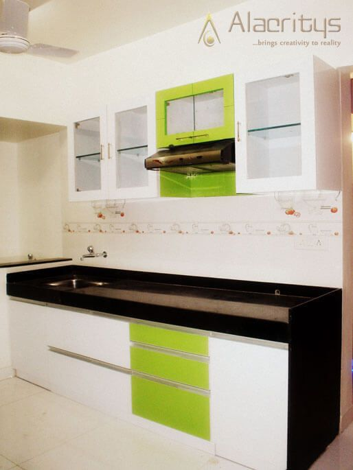 Green is the new Black by Trupti Ladda Modular-kitchen Modern | Interior Design Photos & Ideas