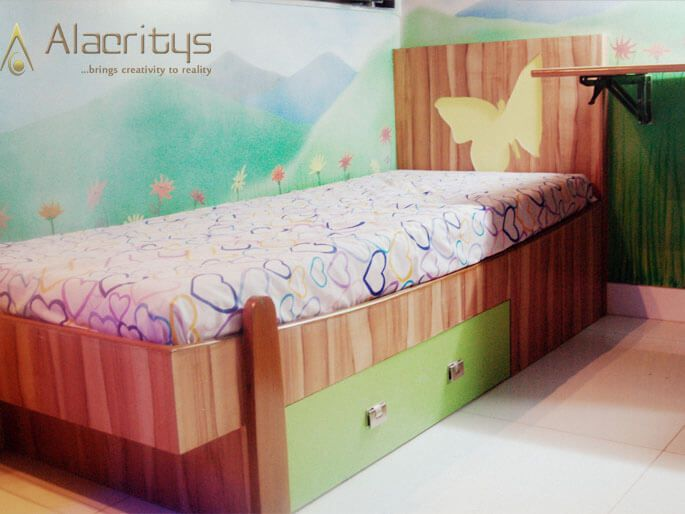 Compact Kids Room by Trupti Ladda Bedroom Contemporary | Interior Design Photos & Ideas
