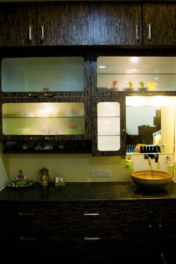 Petite Kitchen by Trupti Ladda Modular-kitchen Modern | Interior Design Photos & Ideas