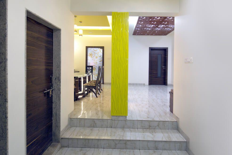 The Yellow Column by Trupti Ladda Modern | Interior Design Photos & Ideas