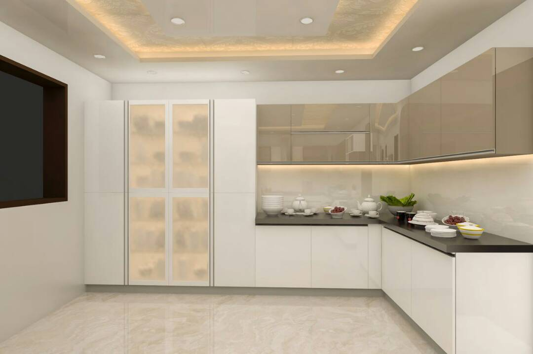 Contemporary Modern Kitchen in L shape by Rahil Lakhani Modular-kitchen Contemporary | Interior Design Photos & Ideas