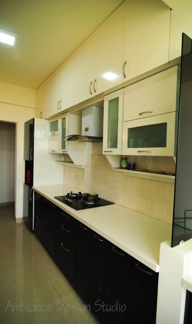 The While Glamour by Manasa Bharadwaj Modular-kitchen Modern | Interior Design Photos & Ideas
