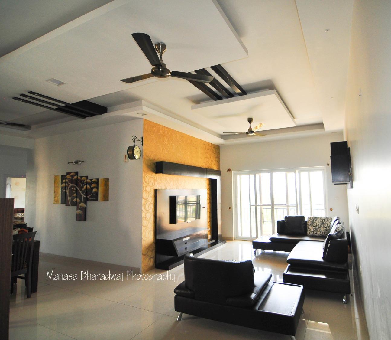 Tinge of Yellow by Manasa Bharadwaj Living-room Modern | Interior Design Photos & Ideas