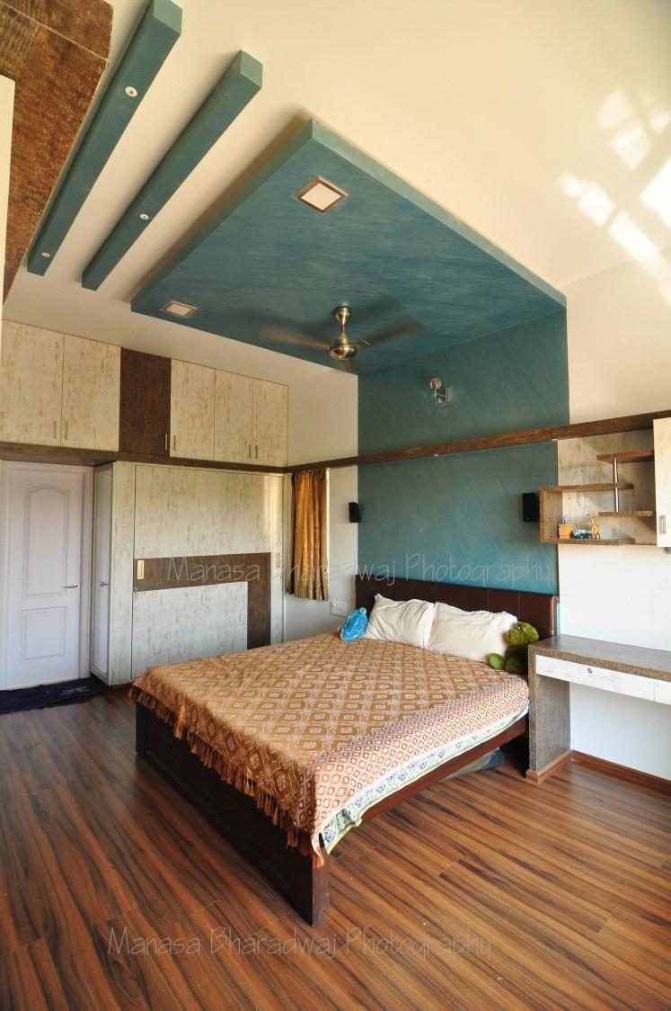 Cottage Ceiling by Manasa Bharadwaj Bedroom Contemporary | Interior Design Photos & Ideas