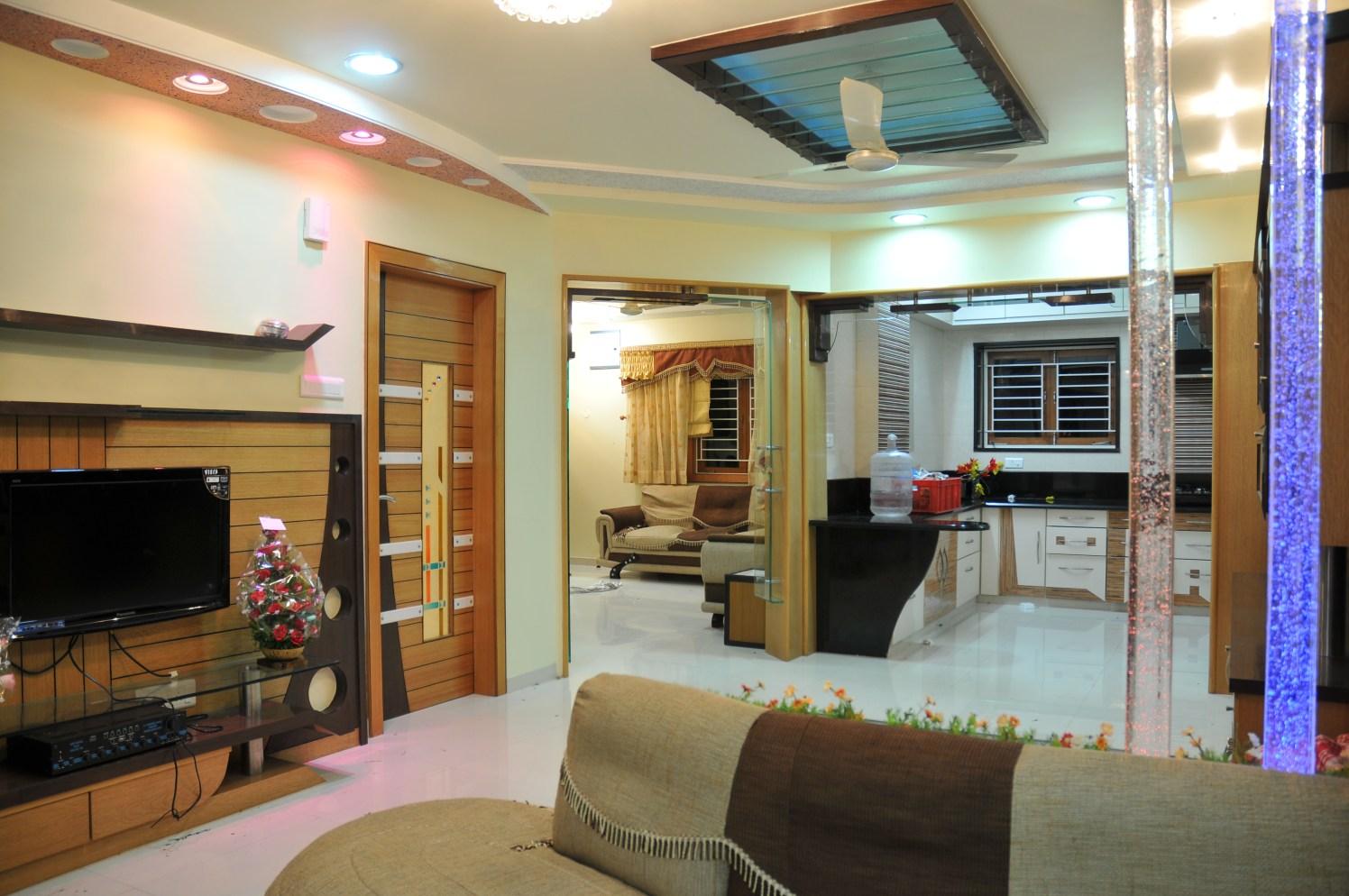 Retro Contemporary Living Room by Bhavin Shah Modern Contemporary   Interior Design Photos & Ideas