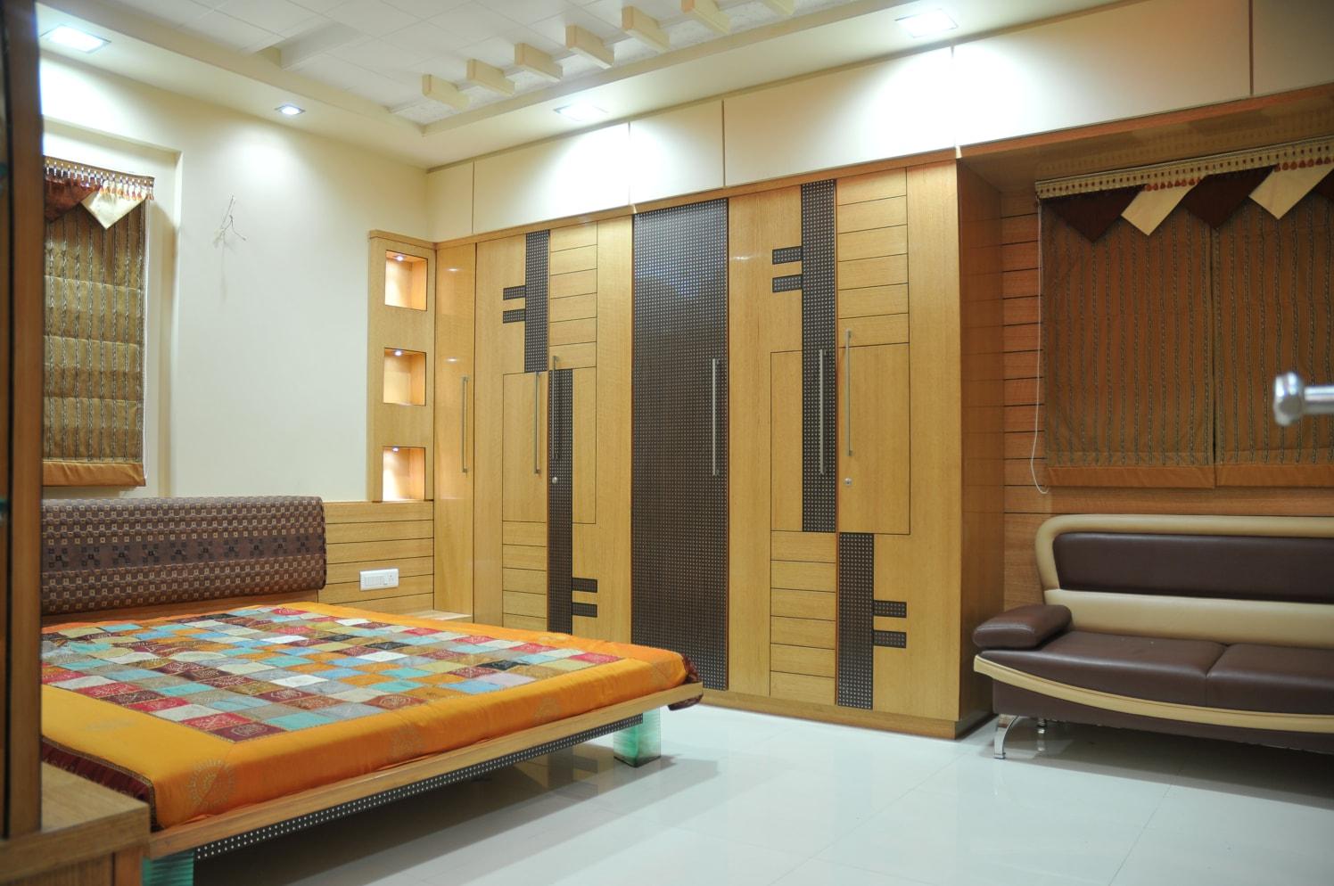 Contemporary Bedroom Design by Bhavin Shah Contemporary | Interior Design Photos & Ideas