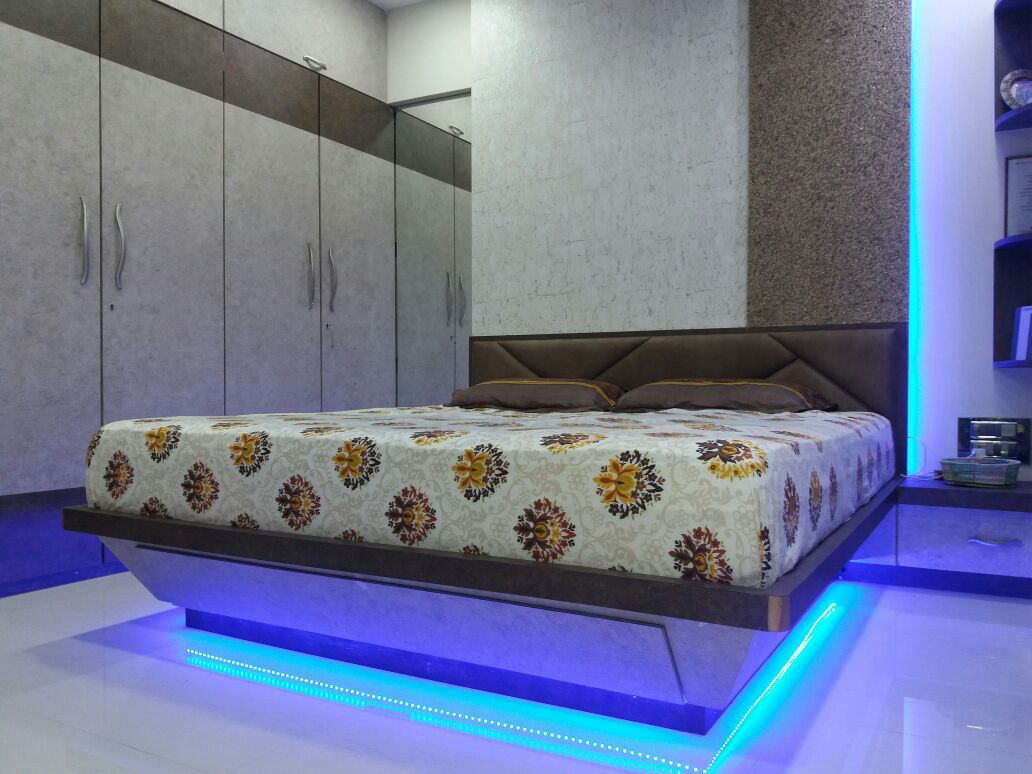 Lights under the Bed by Nidhi Rathod Modern | Interior Design Photos & Ideas