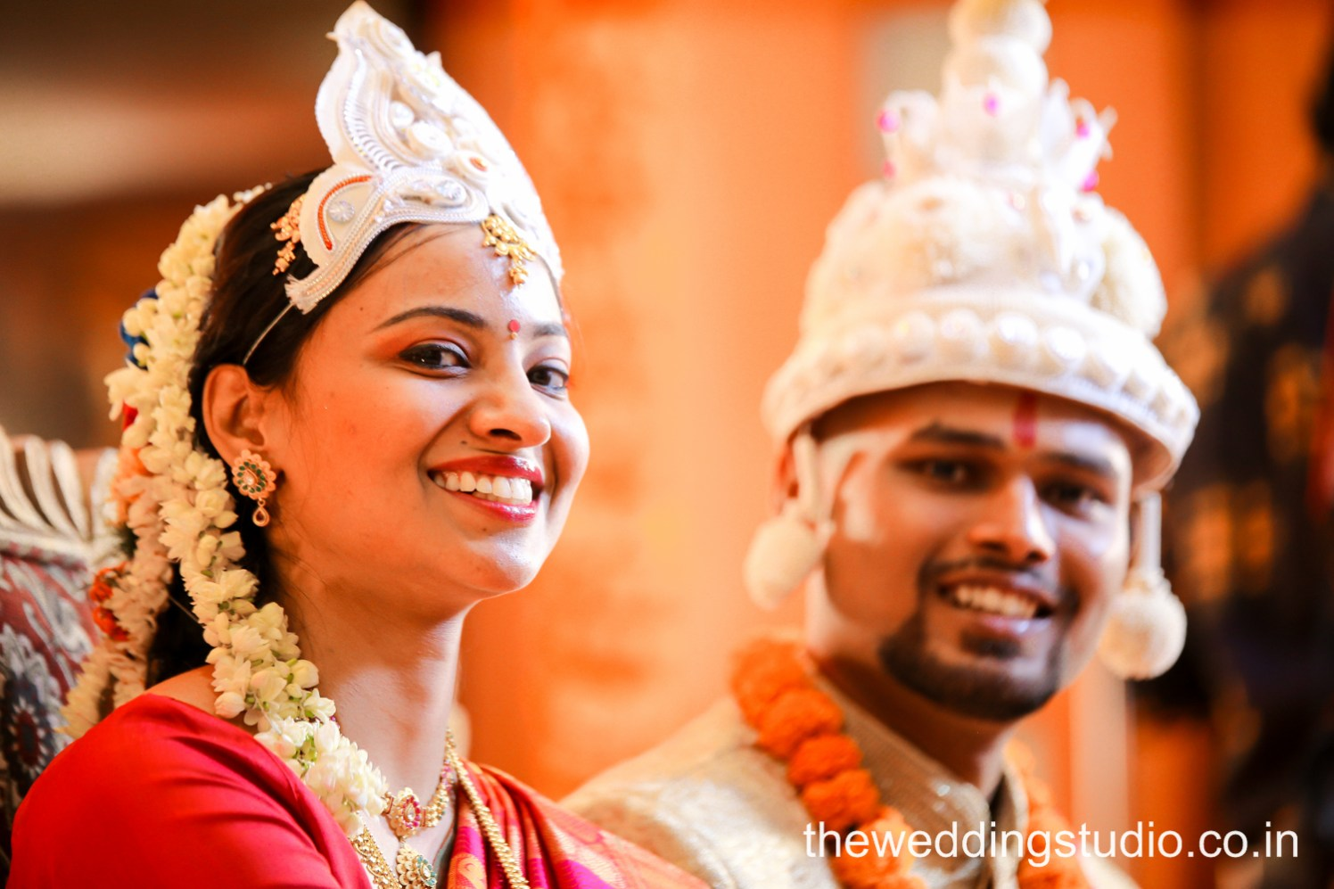 Grin of happiness! by THE WEDDING STUDIO Wedding-photography Bridal-jewellery-and-accessories Bridal-makeup | Weddings Photos & Ideas