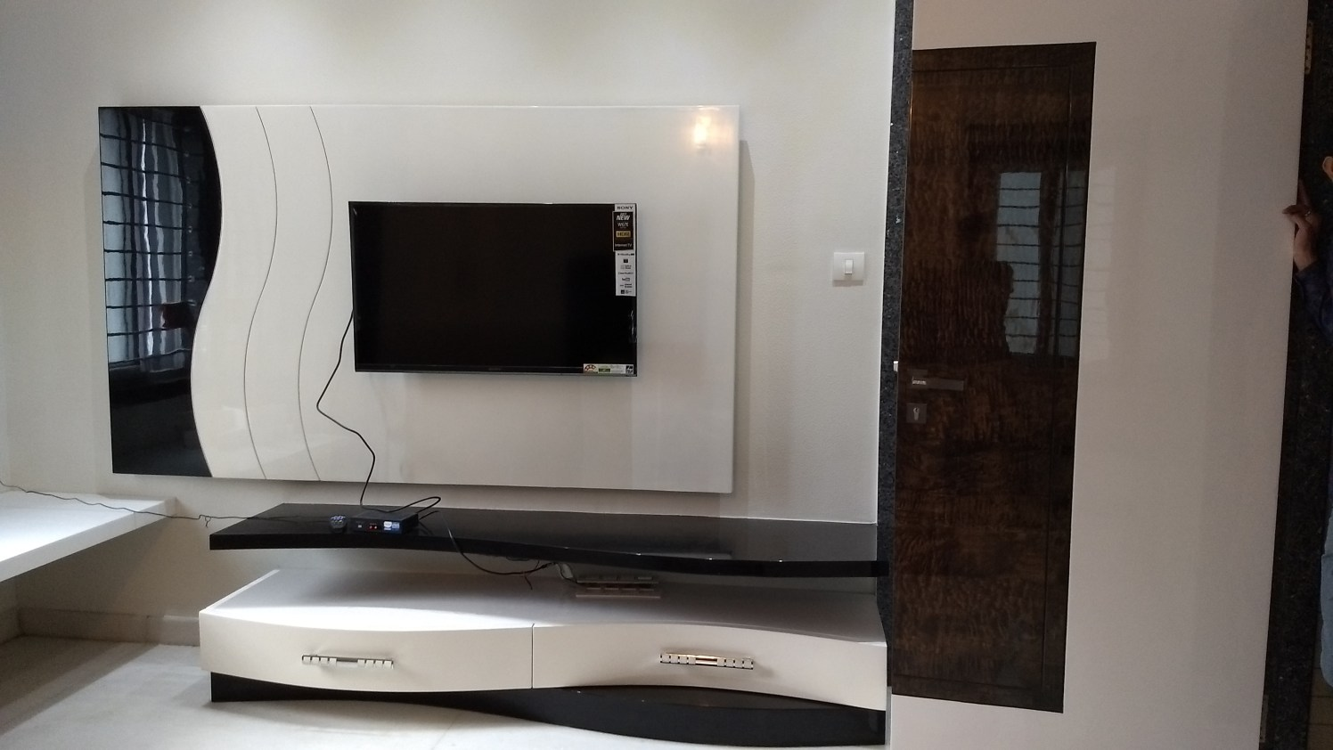 Modern TV Console by Ram PJ Modern | Interior Design Photos & Ideas
