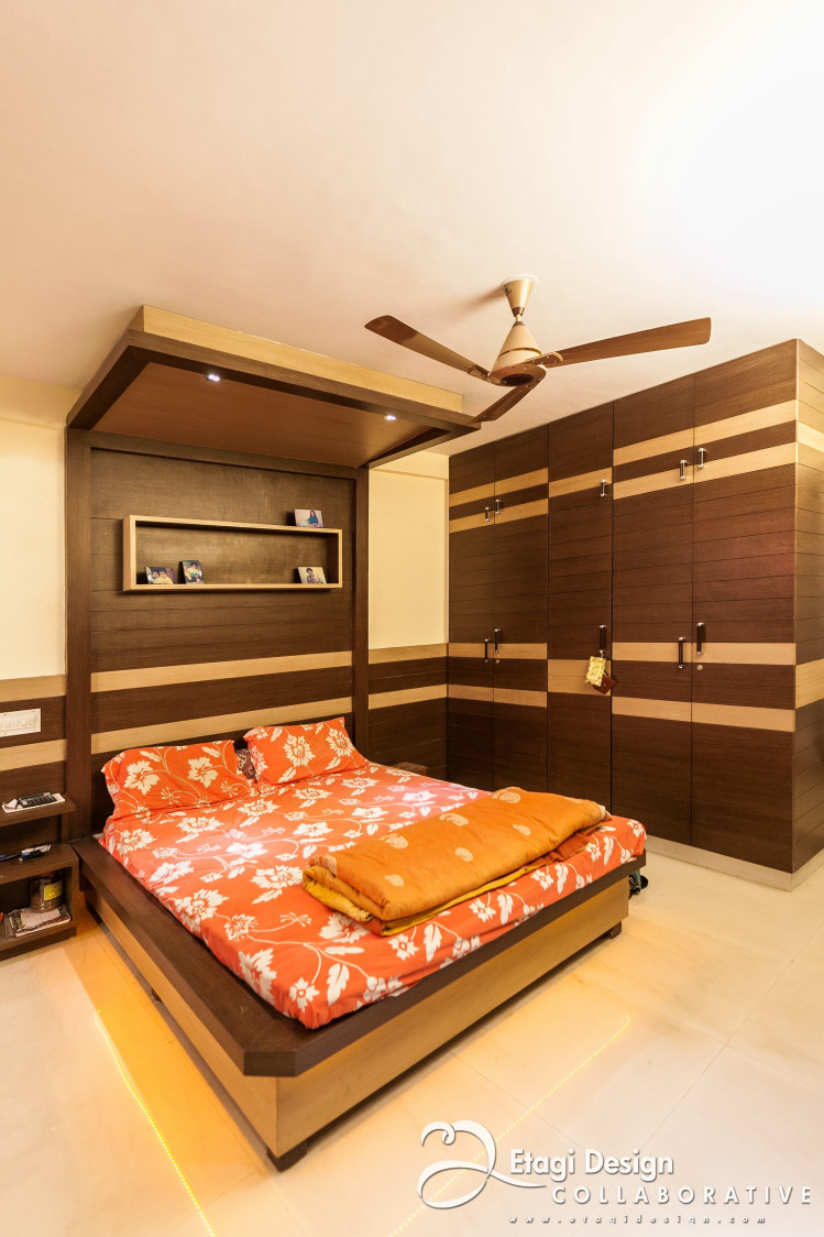 Wooden Work In Bedroom by Prashanth Nandiprasad Bedroom Modern | Interior Design Photos & Ideas