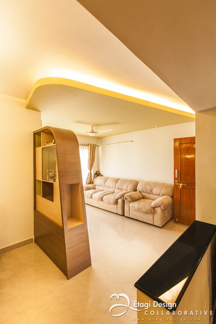 Living Room With Bulky Sofa by Prashanth Nandiprasad Living-room Contemporary   Interior Design Photos & Ideas