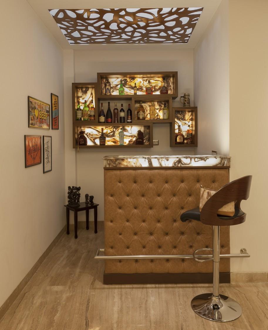 Modern Style Bar by Diya Kochhar Modern | Interior Design Photos & Ideas